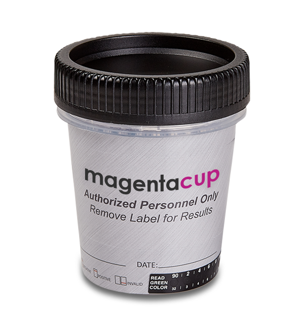 12 Panel CLIA Waived Magenta Tapered Cup Drug Test
