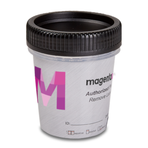 12 Panel CLIA Waived Magenta Tapered Cup Side Drug Test
