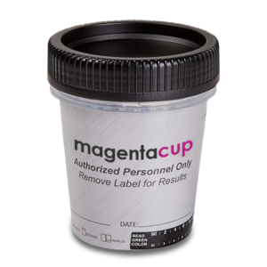 17 Panel Magenta Tapered Cup Drug Test