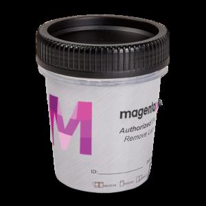 17 Panel Magenta Tapered Cup Side Drug Test