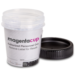 17 Panel Magenta Tapered Cup Open Drug Test