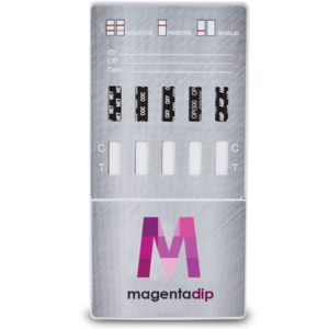 10 Panel CLIA Waived Magenta Dip Card