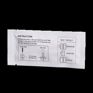 80 Hour ETG Alcohol Magenta Dip Card Package Back Drug Test